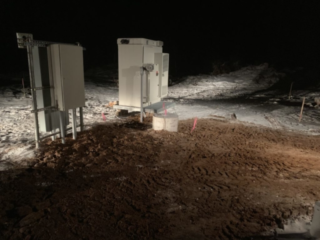 Compound Work at Night